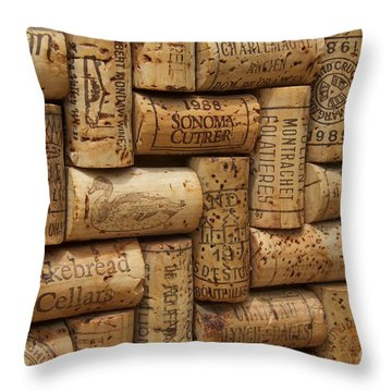 Fine Wine Throw Pillow by Anthony Jones