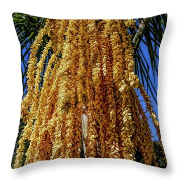 Throw Pillow featuring the photograph Fine Wine Cafe Cascading Seed Pod by Aimee L Maher Photography and Art Visit ALMGallerydotcom