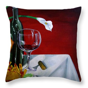 Fine Wine Throw Pillow
