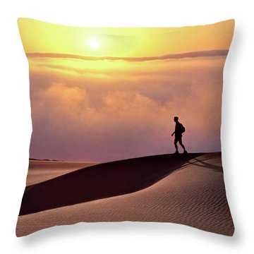 Finge Benefits Throw Pillow