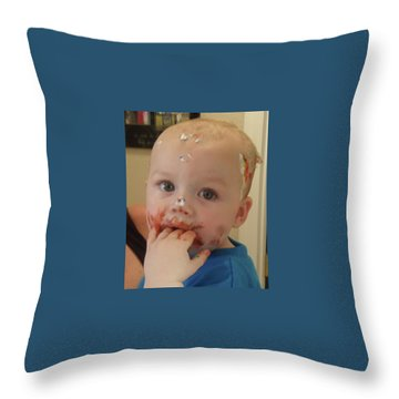 Finger Lickin Good Throw Pillow by Val Oconnor