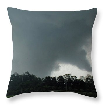 Finger Of God Throw Pillow by Rick Lipscomb