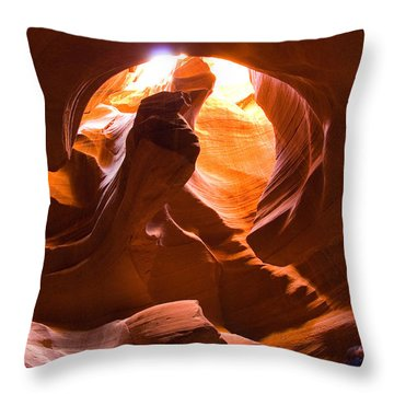 Finger Of Light Throw Pillow