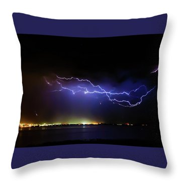 Fingers Across The Lake Throw Pillow