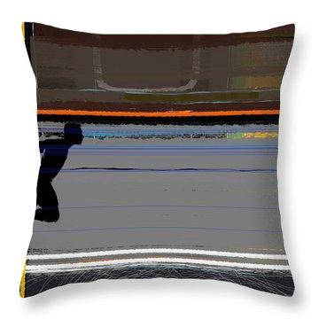 Finish 2 Throw Pillow by Naxart Studio