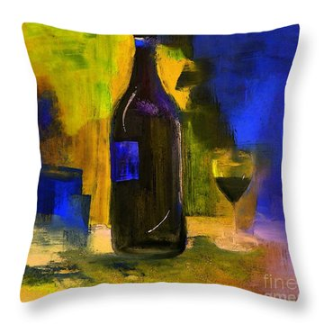 One Last Glass Before Bed Throw Pillow