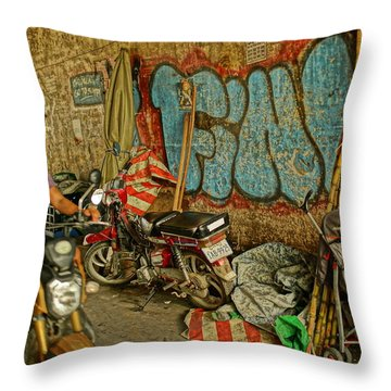 Fink Color Graffiti Throw Pillow
