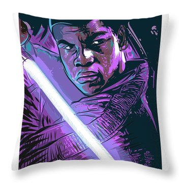 Throw Pillow featuring the digital art Finn by Antonio Romero