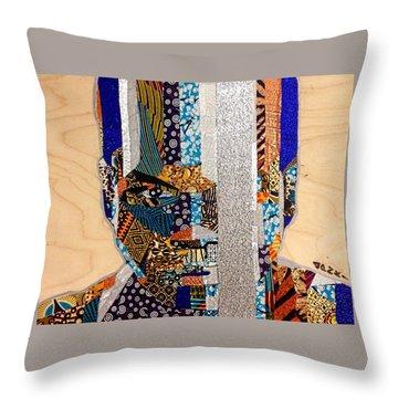 Throw Pillow featuring the tapestry - textile Finn Star Wars Awakens Afrofuturist  by Apanaki Temitayo M