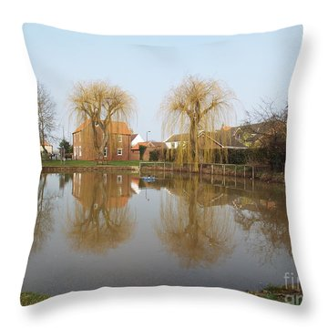 Finningley Pond Throw Pillow