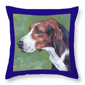 Throw Pillow featuring the painting Finnish Hound by Lee Ann Shepard