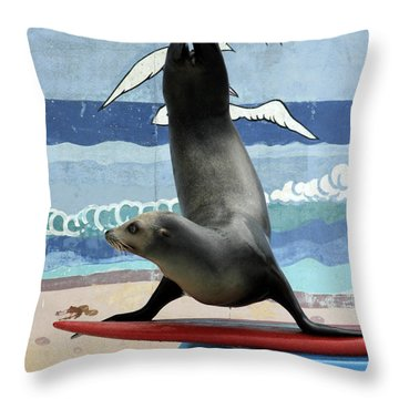 Fins Up Throw Pillow