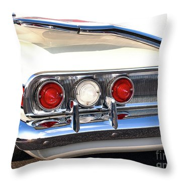 Fins Were In - 1960 Chevrolet Throw Pillow