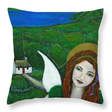 Fiona An Irish Earthangel Throw Pillow by The Art With A Heart By Charlotte Phillips