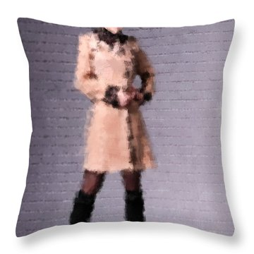 Throw Pillow featuring the digital art Fiona by Nancy Levan