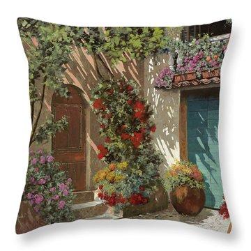 Fiori In Cortile Throw Pillow