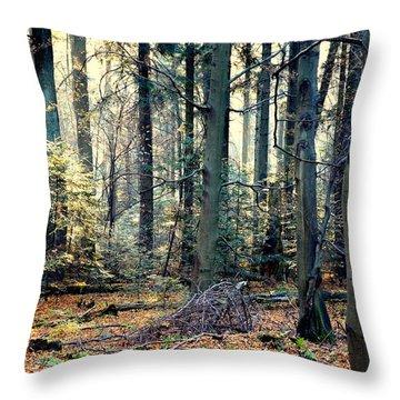 Fir Forest-2 Throw Pillow by Henryk Gorecki