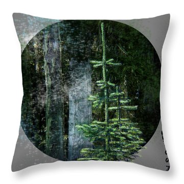 Fir Trees - 3 Ages Throw Pillow