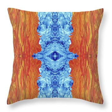 Fire And Ice - Digital 2 Throw Pillow by Otto Rapp