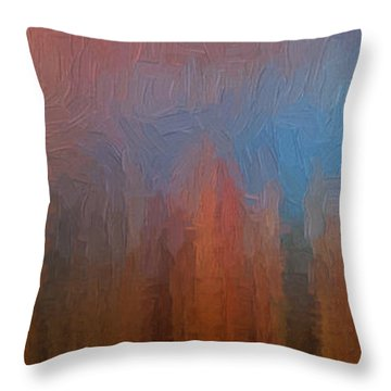 Throw Pillow featuring the photograph Fire And Ice by Ken Smith