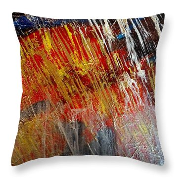Throw Pillow featuring the painting Fire And Ice by Lori Jacobus-Crawford