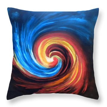 Fire And Ice Throw Pillow by Marti Idlet