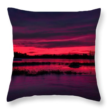 Fire And Ice Sunrise Throw Pillow