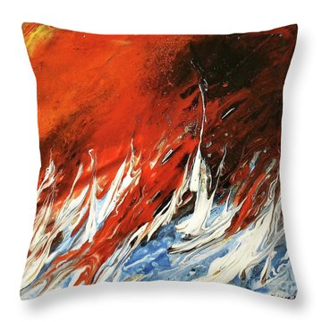 Fire And Lava Throw Pillow