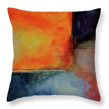 Fire And Rain Throw Pillow