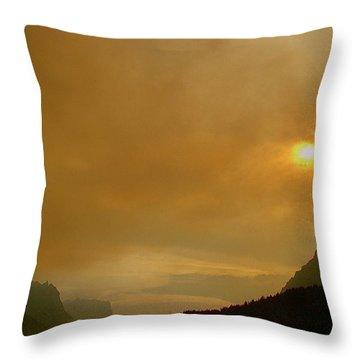 Fire And Sun Throw Pillow