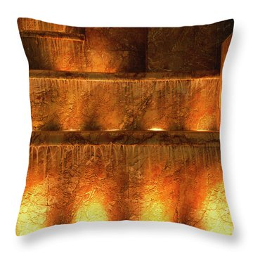 Fire And Water Throw Pillow by Sandra Bronstein