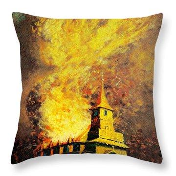 Fire Angel Throw Pillow