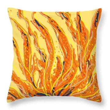Fire Throw Pillow