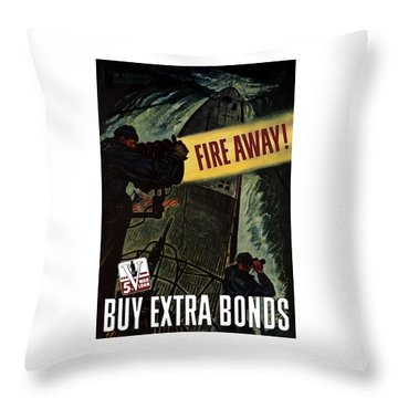 Fire Away Throw Pillow by War Is Hell Store