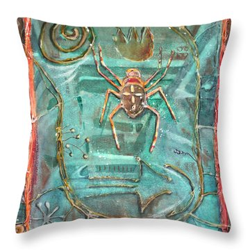Fire Bearer Throw Pillow by Patricia Allingham Carlson