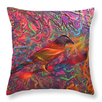 Fire Bird Throw Pillow