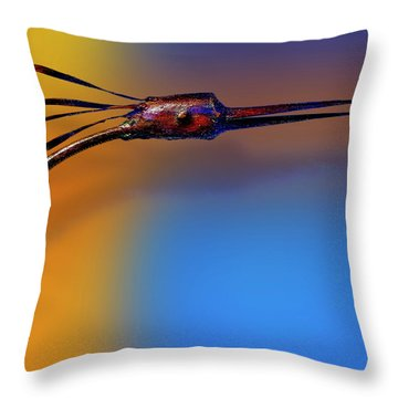 Throw Pillow featuring the photograph Fire Bird by Paul Wear