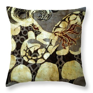 Fire Breathing Dragon Throw Pillow by Carol  Law Conklin