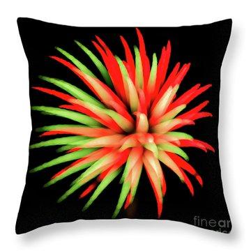 Fire Burst Throw Pillow