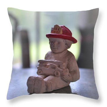 Fire Chief Molded Stone Throw Pillow