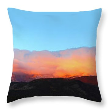 Throw Pillow featuring the photograph Fire Clouds - Panorama by Shane Bechler