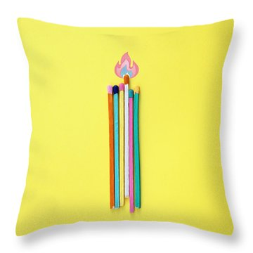 Fire Colors Throw Pillow by Jesus Ortiz