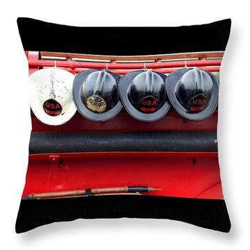 Fire Department Of The Usa Throw Pillow
