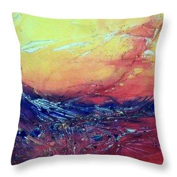 Fire Dragon Throw Pillow by David Ackerson
