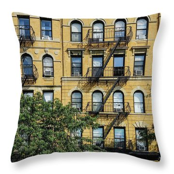 Fire Eascapes On Columbus Ave Throw Pillow