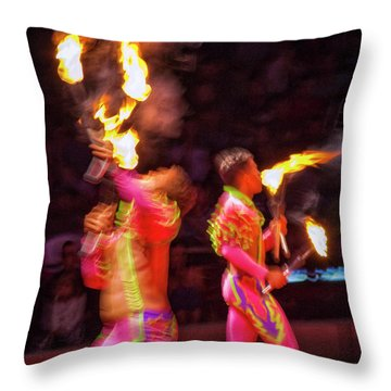 Fire Eaters Throw Pillow