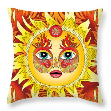 Fire Element Throw Pillow by Serena King
