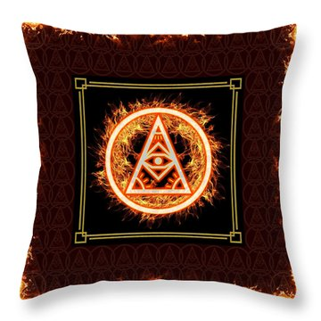 Throw Pillow featuring the digital art Fire Emblem Sigil by Shawn Dall