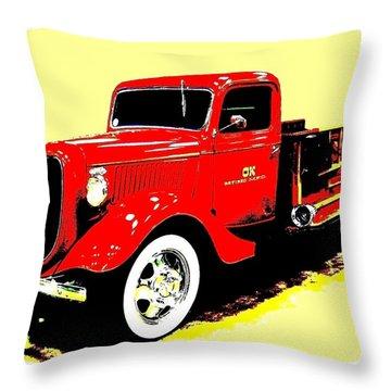 Fire Engine Ok Throw Pillow