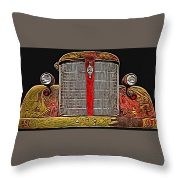 Fire Engine Red Throw Pillow